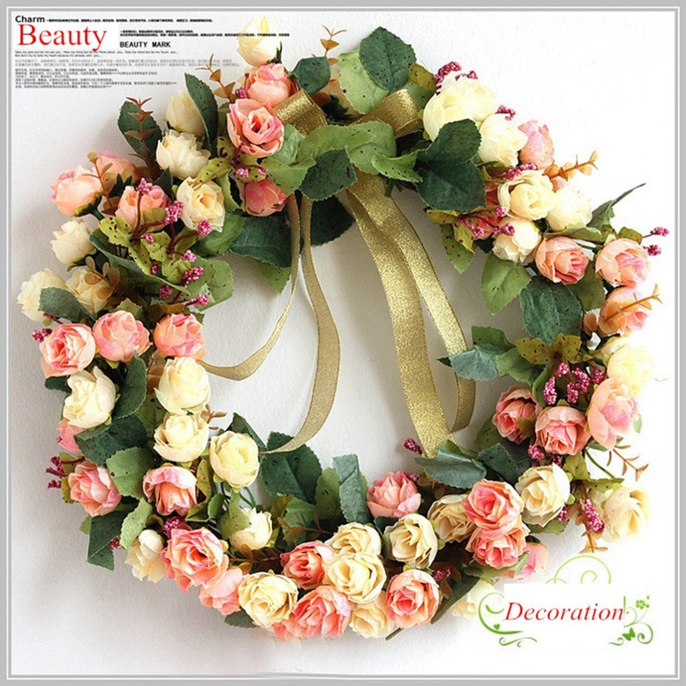 Itemship decorative wreaths home decoration accessory for wedding itemship decorative wreaths home decoration accessory for wedding room festival door wall flower joyous simple decorative wreath in artificial dried junglespirit Images
