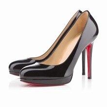 จัดส่งฟรีสตรีเคลือบส้นสูงแหลมTOEรัดตัวสไตล์การทำงานสีแดงแต่เพียงผู้เดียวปั๊มCOURTรองเท้า806-1