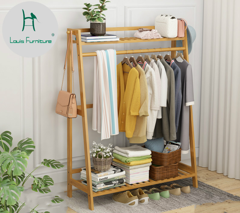 US $36.0 |Louis Fashion Clothes Rack Simple Floor Bedroom Shelf-in Coat  Racks from Furniture on Aliexpress.com | Alibaba Group