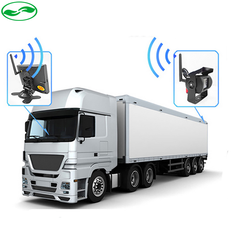 2.4 GHz Wireless Parking Rear View Camera + 2.4 GHz Wireless 7 inch Car Parking Monitor Fit For Auto Truck Van Buses