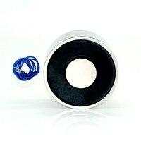 100*40mm Large Suction 150KG DC 5V/12V/24V Big solenoid electromagnet electric Lifting electro magnet strong holder cup DIY 12 v