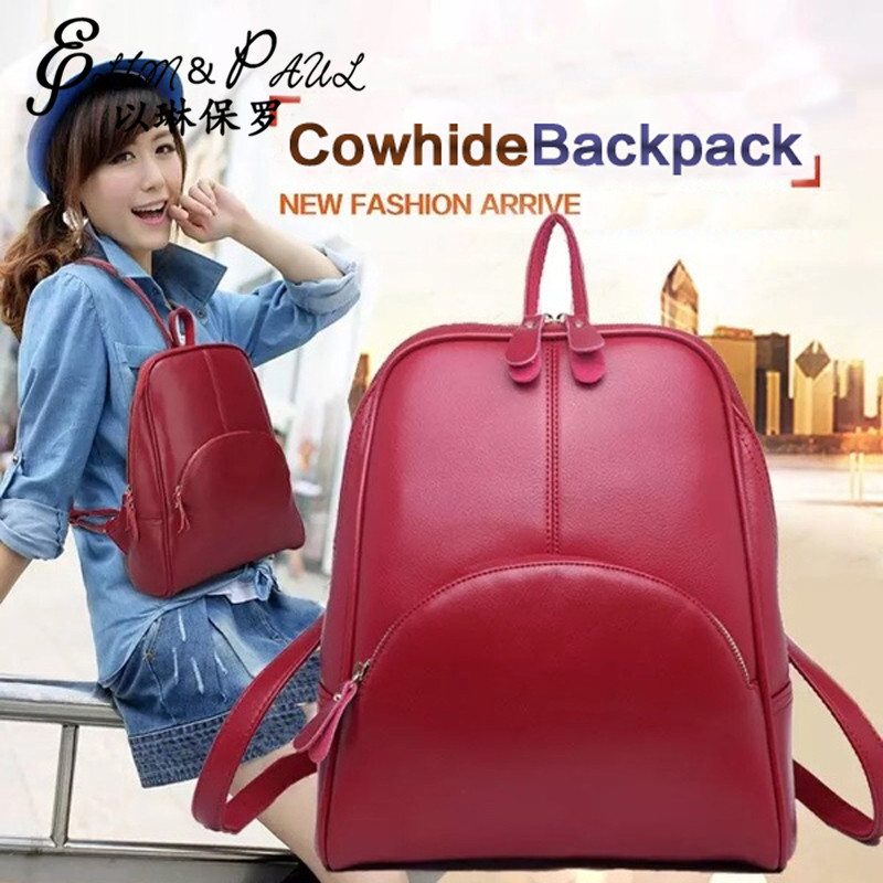 Women Leather Backpack School bags Fashion Girs Backpacks Travel Bookbag Casual High Quality Ladies shoulder bags