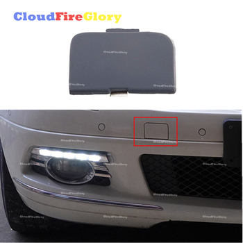 CloudFireGlory For BMW E46 318i 2004 320i 2005 325i 2001 330i 325Xi Front Bumper Tow Eye Hook Cover Cap Unpainted 51117044125 image