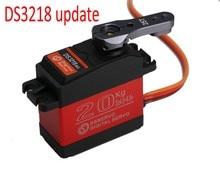Envío Gratis 1 unids DS3218 actualización servo RC 20 KG full metal gear servo digital servo baja para coches de baja