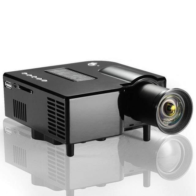 Hot Barato GP5S Projetor Portátil Mini Projetor Digital 80 Lumens 320x240 1980x1080 Resolução Full HD Vídeo suporte Remoto IR