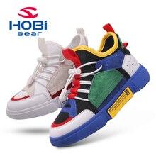 Hobibear Kids Sport Shoes Boys Casual Girls Sneaker Children Fashion Colorful Patchwork Canvas Child Tennis FootwearAS3906
