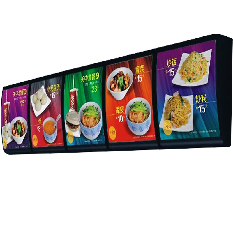 cafe Sufficient Supply Led Backlit Illuminated Poster Display For Restaurant Wall Mounted D Curved Lightbox 5graphics/column