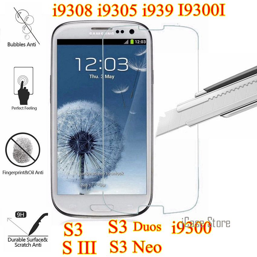 Tempered Glass Film For Samsung Galaxy I9301 S3 Neo S3 Duos GT I9300i Screen Protector s ...
