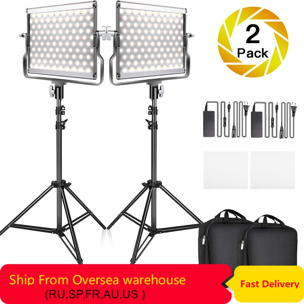 Travor 2 in 1 Bi-color L4500 LED Video Light kit studio light with U Bracket 3200K-5600K CRI96 photography lighting for YouTubeTravor 2 in 1 Bi-color L4500 LED Video Light kit studio light with U Bracket 3200K-5600K CRI96 photography lighting for YouTube