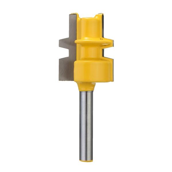 1PCS Glue Joint Router Bit Medium Reversible 1/4 Shank  High Abrasion Resistance Unique Head Design 2 pcs 1 2t type shank 3teeth tenon cutter 4mm reversible glue bits of high quality dovetail router bits box joint router bit