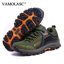 VAMOLASC New Men Outdoor Waterproof Mesh Anti-Slip Hiking Shoes Upstream Shoes Breathable Mountain Walking Trekking Boots