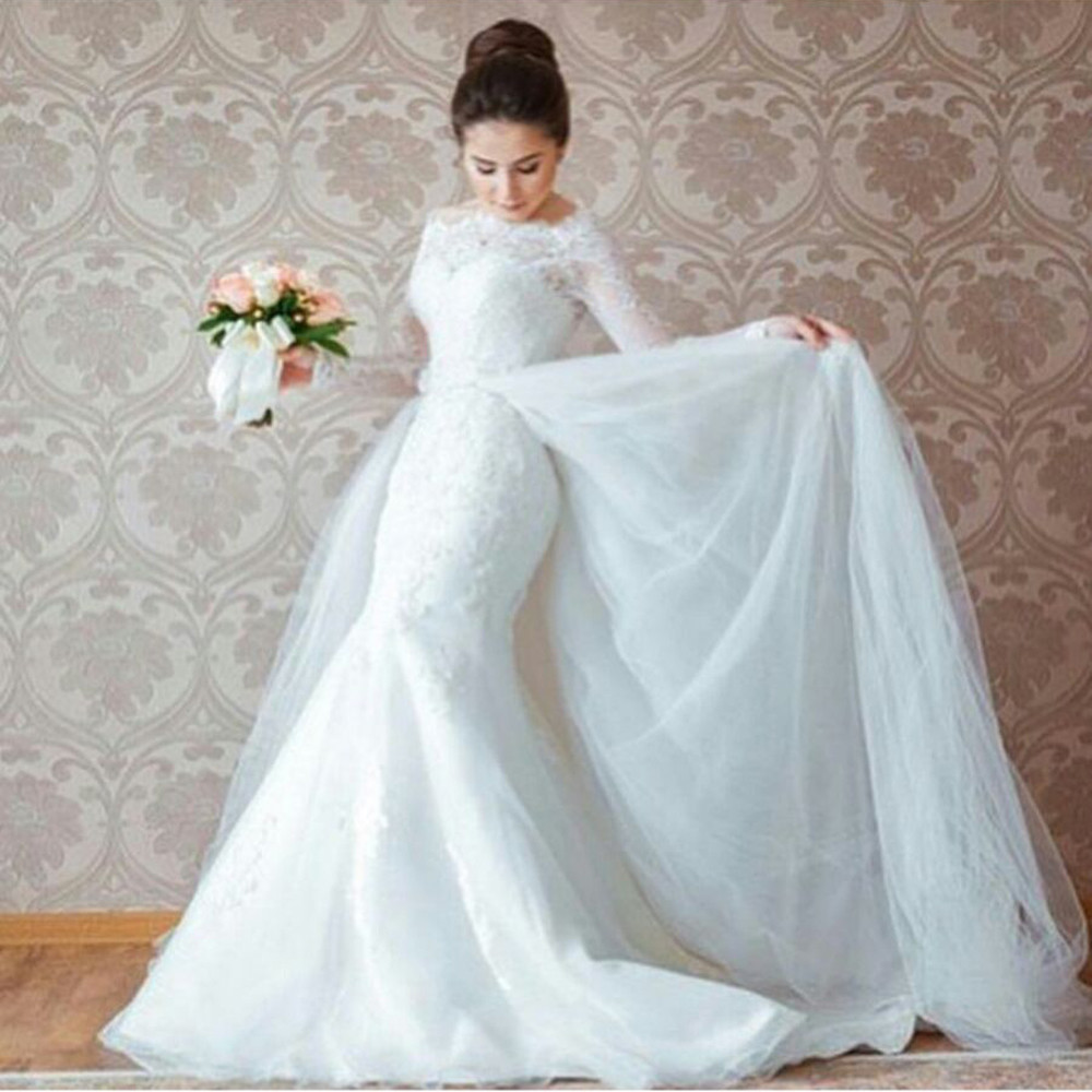 Luxury Detachable Train Wedding Dress Pictures - All Wedding Dresses ...
