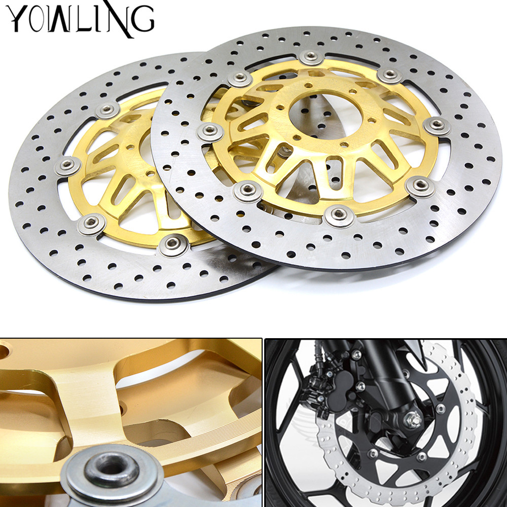 1Pair Front Brake Disc Rotors for Honda CB400 CB 400 1999-2009 2003 2004 2005 2006 2007 2008 CNC Front Brake Disc Brake Rotors arashi 1pcs cnc floating front brake disc brake rotors for cagiva mito 525 125 2006 2007 mito 125 1991 1992 1993 1994