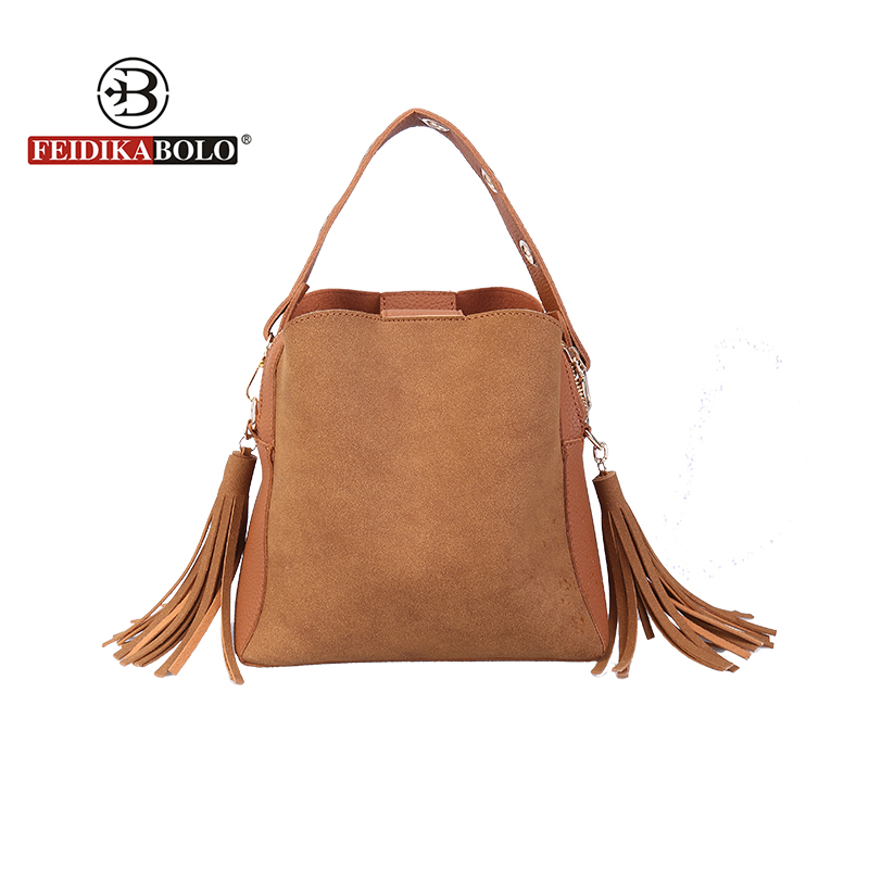 FEIDIKABOLO Brand Tassel Crossbody Bags For Women High Quality Pu Luxury Handbags Women Bags Designer Summer Tote Bags New 2018 chispaulo women genuine leather handbags cowhide patent famous brands designer handbags high quality tote bag bolsa tassel c165