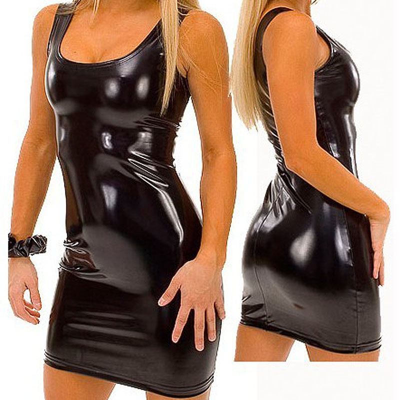 4XL <font><b>5XL</b></font> Plus Size Erotic maxi Dress 2019 Women Hot Sexy Latex Bodycon Dress PVC Sexy Lingerie <font><b>Catsuit</b></font> Latex Erotic Pole Costume image