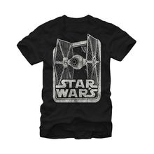 Star Wars Tie Fighter Box Black Adult T-Shirt Free shipping  Harajuku Tops Fashion Classic