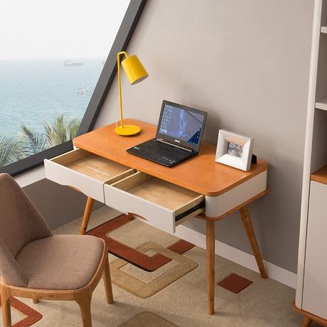 Ordinaire Computer Desks Office Home Furniture Solid Wood Notebook Desk Soporte  Notebook Home Study Table Ordenar Cajones 117.8*52.8*76cm In Laptop Desks  From ...