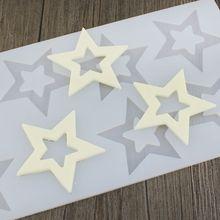 Модные DIY 3D Star Форма силиконовые формы украшения торта инструменты кекс торт Toppers Шоколад Плесень Декор Muffin Pan выпечки инструменты