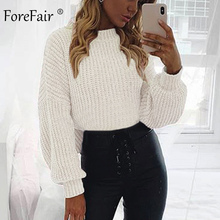 Forefair Casual Turtleneck Sweater Woman Winter Knitting Pul
