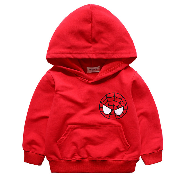 Niños sudaderas niños niñas otoño primavera con capucha de la historieta impresa de manga larga camiseta del bebé chaqueta de punto de algodón ropa de los niños 3-7 T