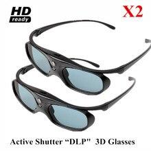 053d985243313 2 PCS Óculos de Obturador Ativo para A Maioria Dos Projetores DLP Link-3D  Acer