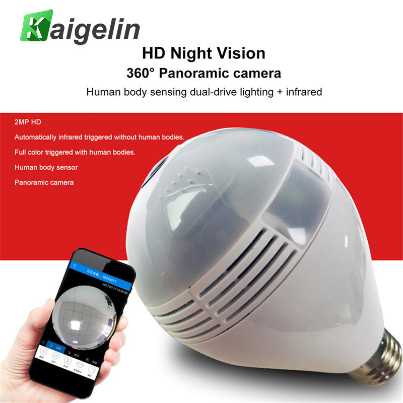 WIFI Switch Home Smart LED Light Bulb E27 360 Degree Panoramic Wireless Network HD Monitoring Camera Remote Monitor Detector smart bulb e27 7w led bulb energy saving lamp color changeable smart bulb led lighting for iphone android home bedroom lighitng