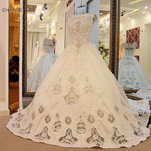 CHANVENUEL LS54801 Luxury Crystal Wedding Dresses Ball Gown