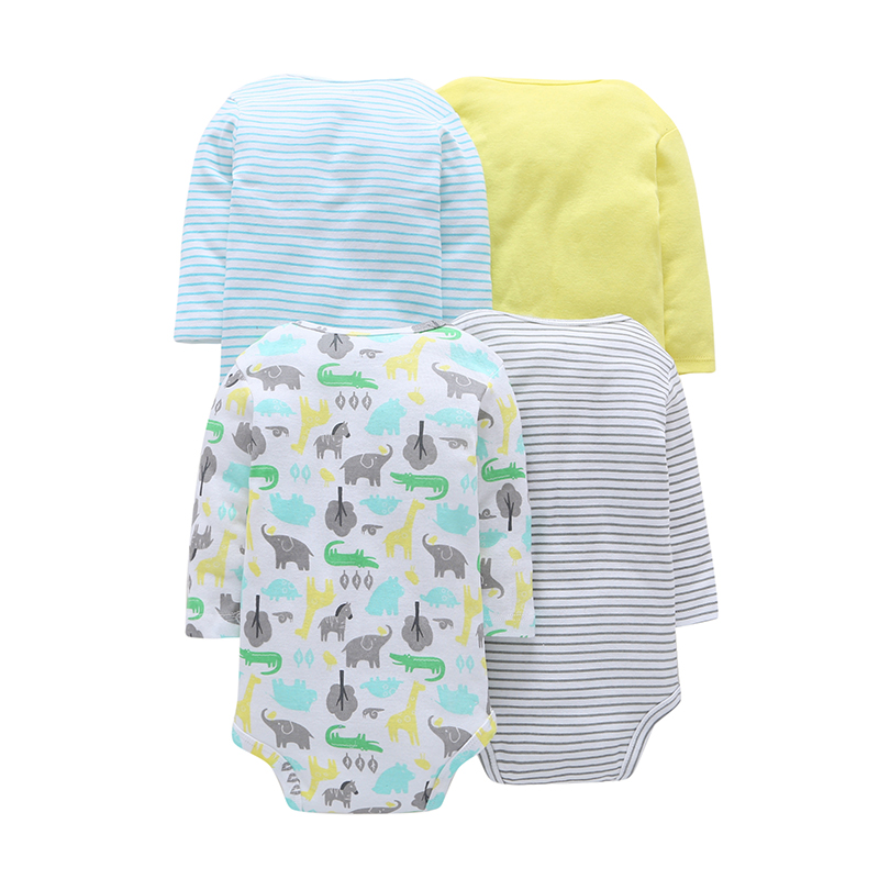 2017 New Arrival Hot Sale Full Sleeve Fashion Double Newborn & Boys 4-piece Sets 100% Cotton Breasted Bodysuit Infant Clothing new arrival hot 100