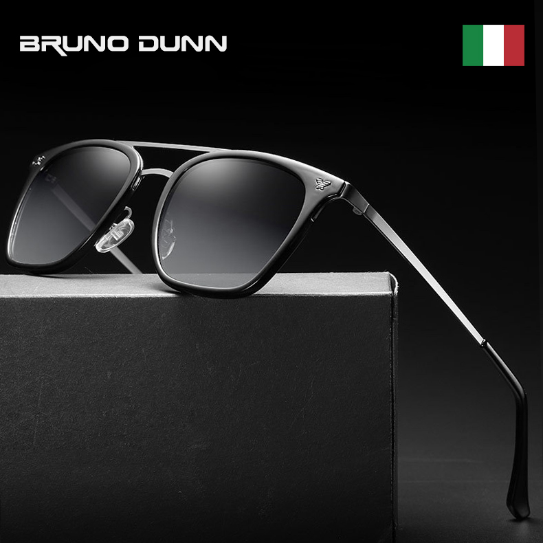 Bruno Dunn Luxury Sunglasses Men Polarized 2020 luxury Brand Designer Vintage Mirror Sun Glasses gafas Oculos De Sol Feminino St(China)