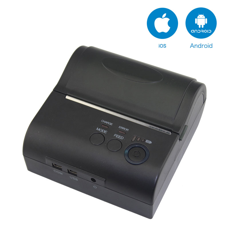 NT-8001DD 80mm Bluetooth Thermal Receipt Printer for Android and IOS AND NT-8001LD Mini Printer for Android Mobile POS Printer freeshipping mini bluetooth thermal printer 80mm receipt ticket printer pos printer machine for thermal printer android ios