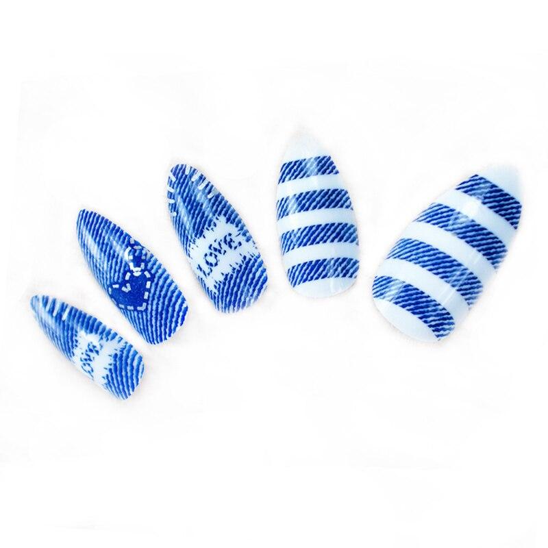 24 stks / pak Kunstnagels Volledige Cover Fake Nagels voor Nail Art - Nagel kunst - Foto 4