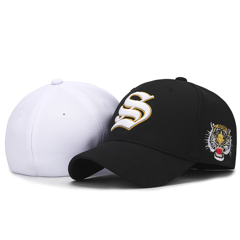e10de87bb US $6.71 16% OFF|high grade embroidery casual outdoor fully enclosed cap  Spring and summer European and American style stretch size baseball cap-in  ...