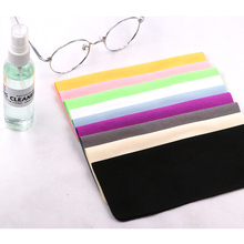 COLOUR_MAX 10Pcs Chamois Cleaner Microfiber Glasses Cleaning Cloth For Lens Phone Screen Cleaning Wipes 10pcs lens clothes eyeglasses cleaning cloth microfiber phone screen cleaner sunglasses camera duster wipes eyewear accessories