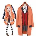 Anime Kakegurui Compulsieve Gokker Yomozuki Runa Cosplay Kostuum Leuke Konijnenoren Hoodies Uniformen Halloween Volledige Set Outfits - 1