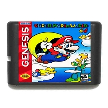 Super Marioworld 64 16 bits MD Carte de Jeu Pour Sega Mega Drive Pour Sega Genesis