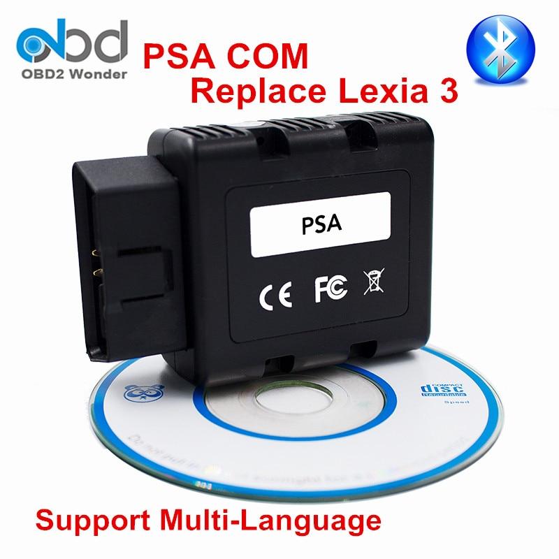 Цена за Лидер продаж psacom PSA-COM Bluetooth диагностический программист инструмент PSA com для Peugeot/Citroen транспортных средств Замена Lexia 3 PP2000