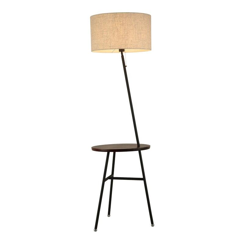 Современный деревянный стол торшер 6 Вт E27 светодио дный лампы Гостиная Спальня исследование Торшеры Черный Металлический корпус дуб, орех