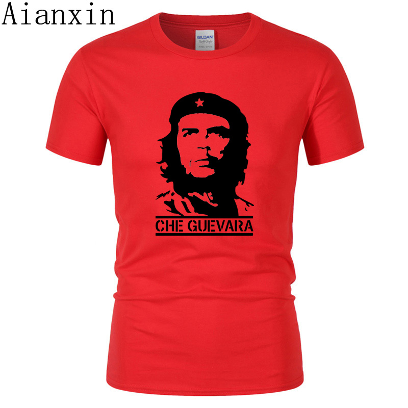 2019 Summer Newest Fashion Che Guevara Printed T Shirt Men Cool Design High Quality Tops Custom T-Shirt Hipster Tees