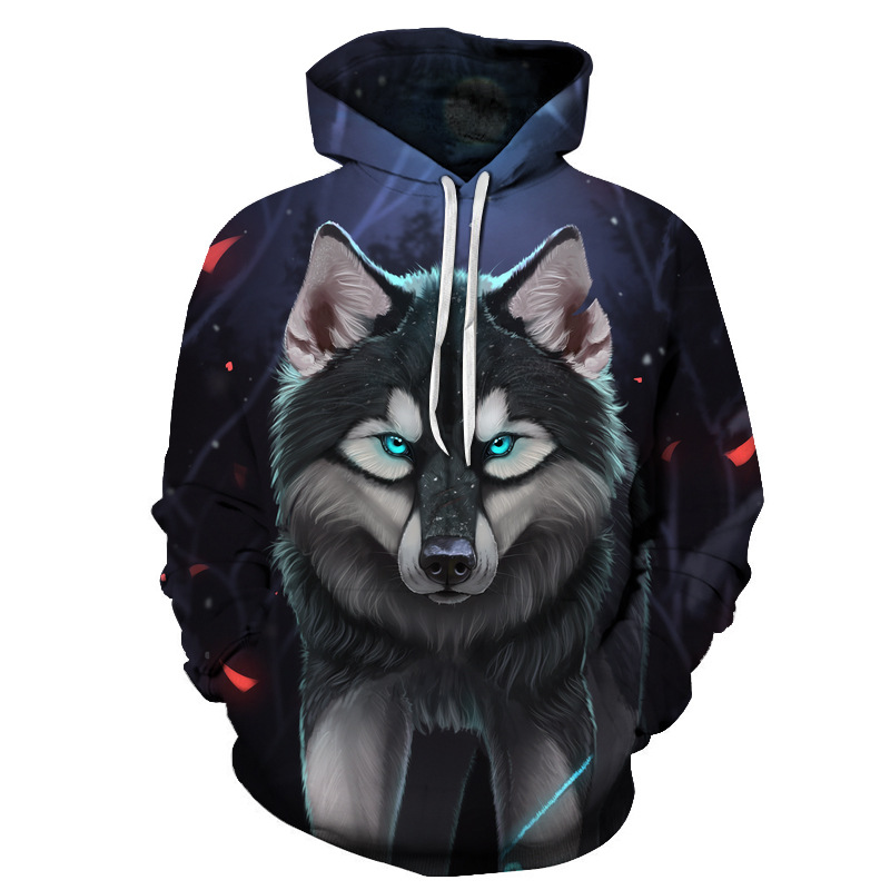 Harajuku font b Anime b font Cartoon Hoodies Adventure Wolf Totoro Pokemon Kawaii Clothes 3D Hooded