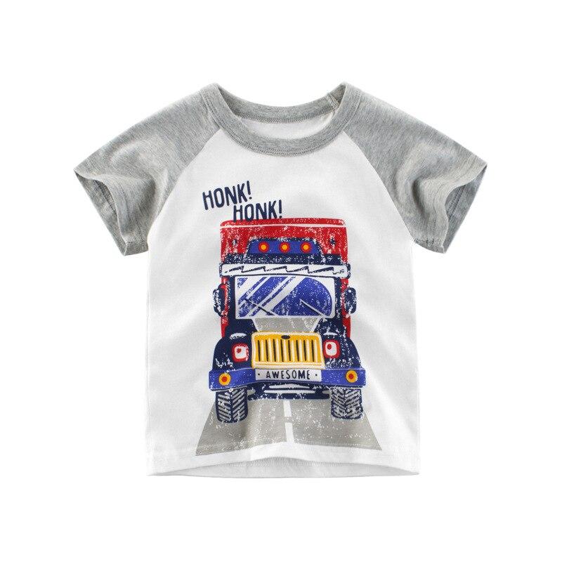 2019 Summer Kids Short Sleeve T-shirts Boys & Girls Cotton Tops Tees Children Summer Clothing Cartoon T Shirt For Boys