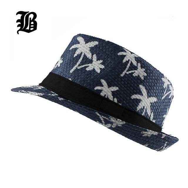 FLB  Casual Sol de Panamá sombreros de paja playa los hombres de moda de 69555eb86f1