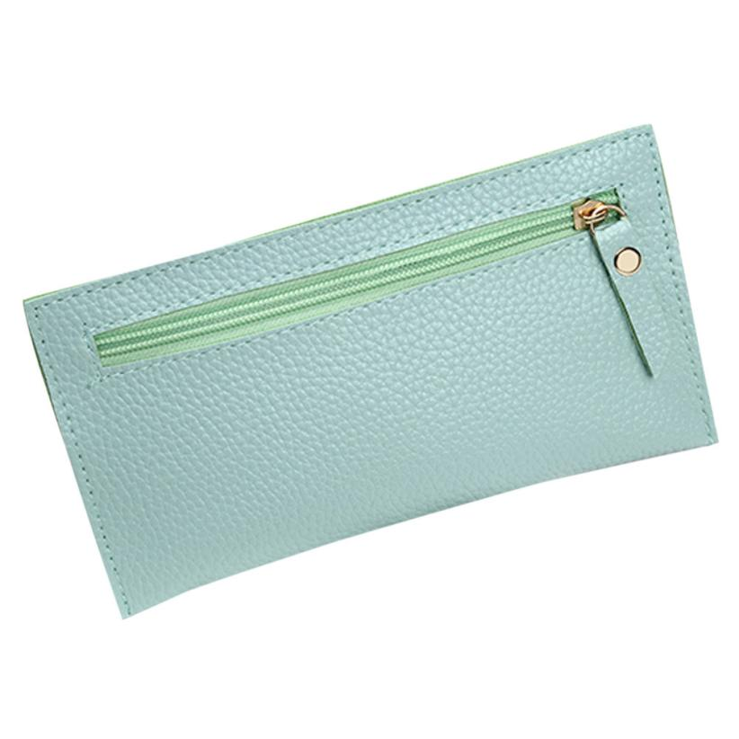 Fashion Women Leather Wallet Clutch Card Holder Purse Zero Wallet Phone Key Bag small wallet Men Leather Thin Wallet Male Slim