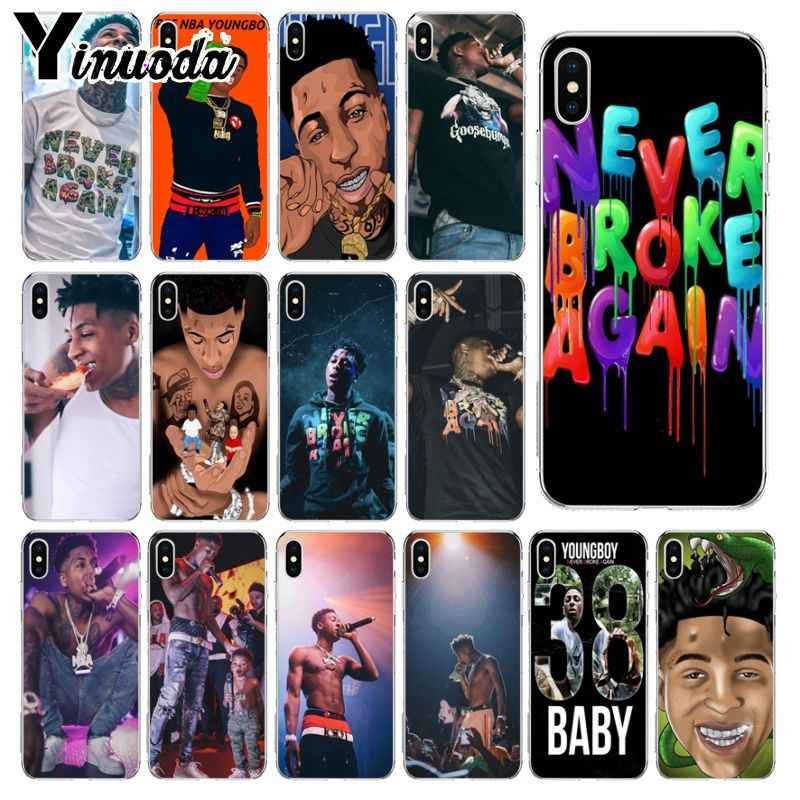 Yinuoda Youngboy Mai Rotto di Nuovo Merchandising Caso Del Modello Del Telefono per il iPhone di Apple 8 7 6 6S Plus X XS MAX 5 5S SE XR Mobile Custodie