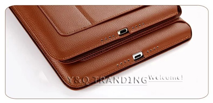 Ultrathin Cowhide Genuine Leather Case for Apple iPad Real Leather Business Stand Smart Cover for iPad  (18)