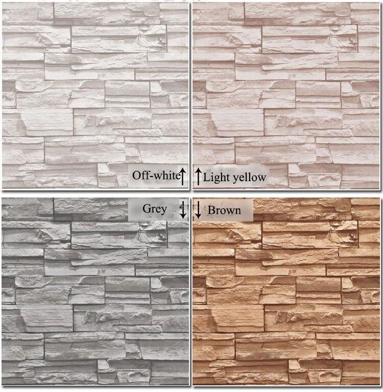 Vinilo de poca moderna 3d efecto imitaci n piedra papel for Papel pintado imitacion piedra
