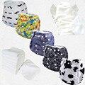 5 шт. Один Размер Подходит Всем Органических Пеленки многоразовые замши пеленки Оптовой или OEM (5 sets)