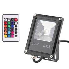 Ультратонкий наружного прожектор пульт освещения дистанционного беспроводной управления led водонепроницаемый черный