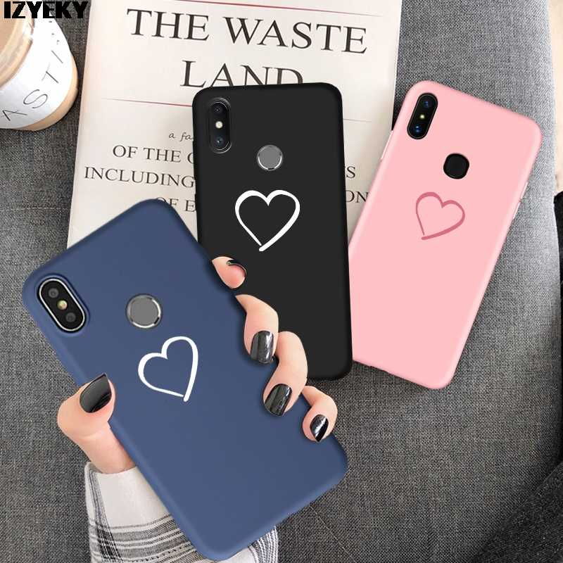 IZYEKY Love heart Cover Case For xiaomi Redmi note 7 6 5 Pro 7A 4x 6a 6 5a S2 Mi 9 se Mi 8 lite A2 mi A1 5X A2 6X pocophone F1