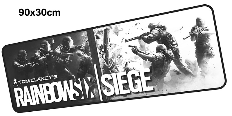 rainbow six siege mousepad gamer 900x300X3MM gaming mouse pad Cartoon notebook pc accessories laptop padmouse ergonomic mat