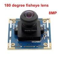 180 Degree Fisheye Lens USB Cctv Surveillance Camera 8MP 3264X2448 Mjpeg Sony IMX179 Sensor 38 38mm